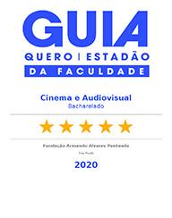 Selo e Audiovisual'Guia da Faculdade - Estadão + Quero Educação': Cinema, 5 estrelas - 2020