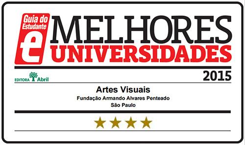 Selo Melhores Faculdades 2015 - Guia do Estudante - Artes Visuais FAAP