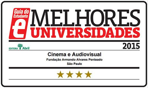 Selo Melhores Faculdades 2015 - Guia do Estudante - Cinema Audiovisual FAAP