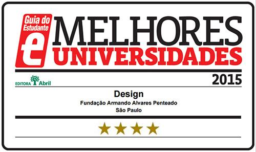 Selo Melhores Faculdades 2016 - Guia do Estudante - Design FAAP