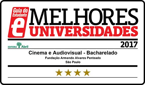 Selo Melhores Faculdades 2017 - Guia do Estudante - Cinema Audiovisual FAAP